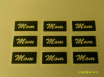 Mom word stencils for etching on glass  gift present hobby craft  Mothers Day / Mothering Sunday